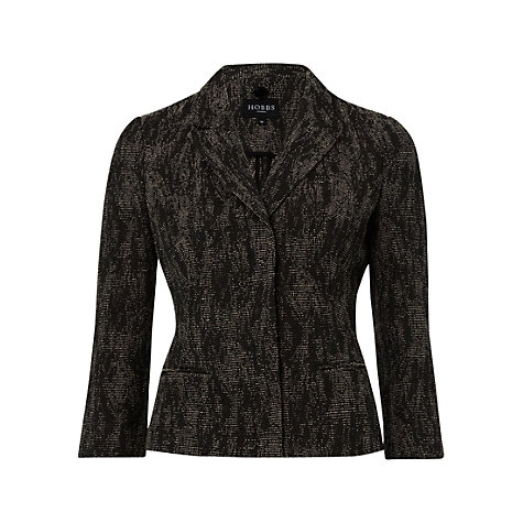 Buy Hobbs Alice Jacket, Black Neutral Online at johnlewis.com