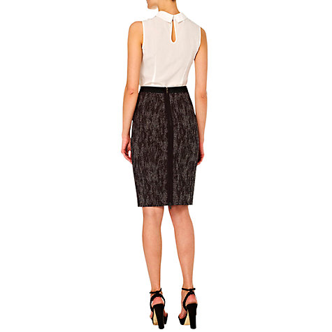 Buy Hobbs Alice Skirt, Black Neutral Online at johnlewis.com