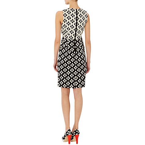 Buy Hobbs Victoria Dress, Black/New Pebble Online at johnlewis.com