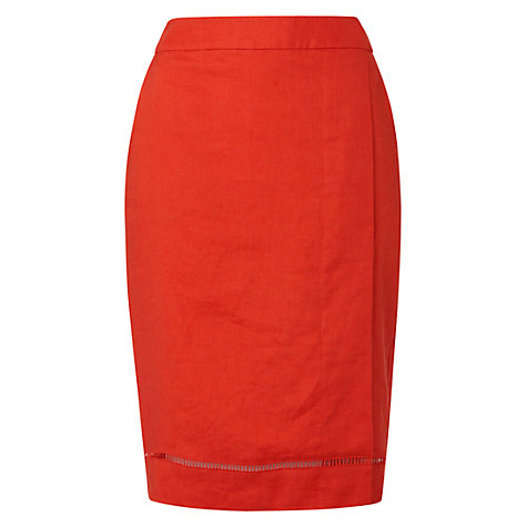 Buy Hobbs Forsyth Skirt, Lava Online at johnlewis.com
