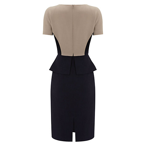 Buy Hobbs Olivia Dress, Navy Calico Online at johnlewis.com