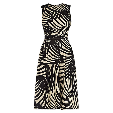 Buy Hobbs Twitchill Dress, Black Bone Online at johnlewis.com