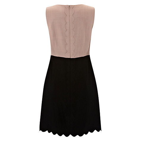 Buy Hobbs Aubrey Sleeveless Shift Dress, Black Blush Online at johnlewis.com