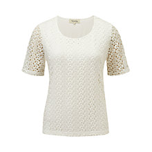 Buy Viyella Crochet Top, Ivory Online at johnlewis.com