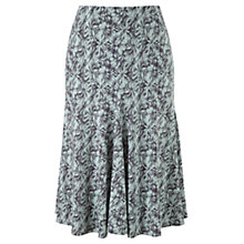 Buy Viyella Petite Daisy Print Skirt, Pewter Online at johnlewis.com