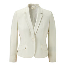 Buy Viyella Petite Crepe Jacket, Ivory Online at johnlewis.com