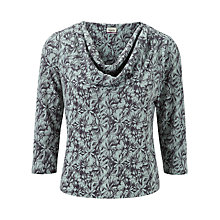 Buy Viyella Petite Daisy Jersey Top, Pewter Online at johnlewis.com