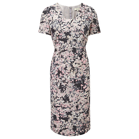 Buy Viyella Confetti Floral Dress, Pewter Online at johnlewis.com