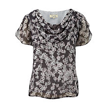 Buy Viyella Daisy Print Blouse, Pewter Online at johnlewis.com