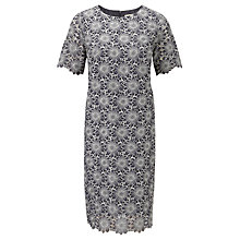 Buy Viyella Floral Georgette Dress, Pewter Online at johnlewis.com