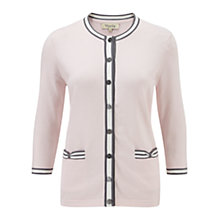 Buy Viyella Bow Pocket Cardigan, Shell Pink Online at johnlewis.com