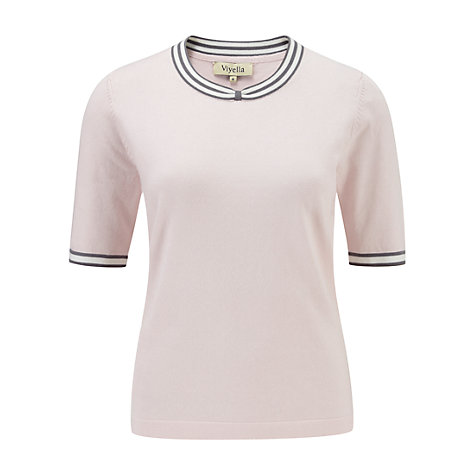 Buy Viyella Bow Tipped Jumper, Shell Pink Online at johnlewis.com