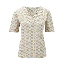 Buy Viyella Hexagon Floral Top Online at johnlewis.com