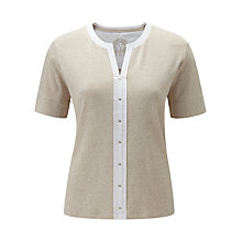 Buy Viyella Contrast Trim Top, Cream Online at johnlewis.com