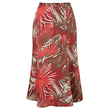 Buy Viyella Palm Print Linen Skirt, Pimento Online at johnlewis.com