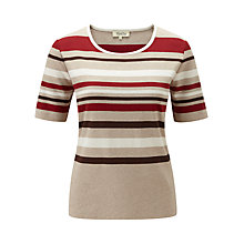 Buy Viyella Striped Top, Pimento Online at johnlewis.com