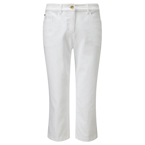 Buy Viyella Cropped Jeans, White Online at johnlewis.com
