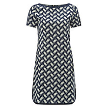 Buy NW3 by Hobbs Ikat Print Dress, Indigo Multi Online at johnlewis.com