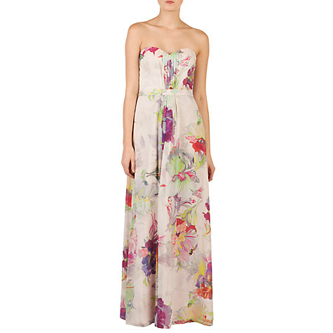 Buy Ted Baker Gojji Orchid Print Maxi Dress, Pale Pink Online at johnlewis.com