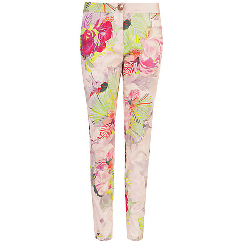 Buy Ted Baker Verdad Orchid Print Trousers, Pale Pink Online at johnlewis.com