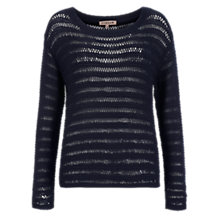 Buy Jigsaw Drop Stitch Sweater, Navy Online at johnlewis.com