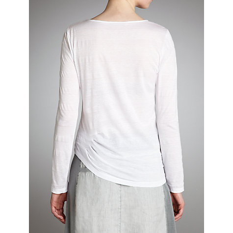 Buy Sandwich Striped Jersey Top, White Online at johnlewis.com