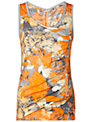 Sandwich Spring Flower Top, Mandarin