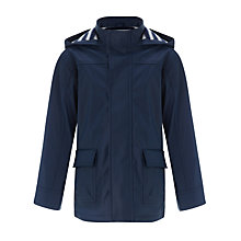 Buy John Lewis Boy Morgan Rain Mac, Navy Blue Online at johnlewis.com