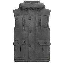Buy John Lewis Boy Wilson Gilet, Grey Online at johnlewis.com