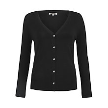 Buy Jigsaw V-Neck Cardigan, Black Online at johnlewis.com
