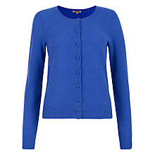 Buy Jigsaw Cashmere Cardigan, Bright Blue Online at johnlewis.com