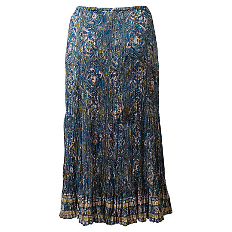 Buy East Crinkle Skirt, Celadon Online at johnlewis.com