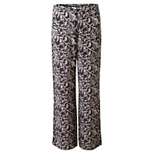 Buy East Abida Palazzo Trousers, Dark Flint Online at johnlewis.com