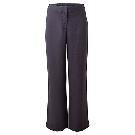 Buy East Linen Elastic Trousers, Flint Grey Online at johnlewis.com