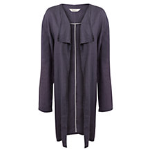 Buy East Longline Waterfall Coat, Flint Grey Online at johnlewis.com