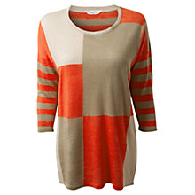 Buy East Linen Colour Block Jumper, Jute Online at johnlewis.com