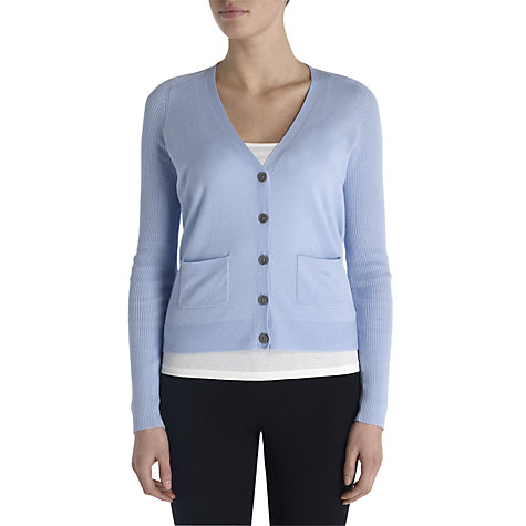 Buy Jigsaw Ribbed Sleeve Cardigan Online at johnlewis.com