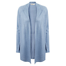 Buy East Ladder Stitch Linen Cardigan, Soft Blue Online at johnlewis.com