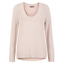 Buy Jigsaw Text Stitch Chunky Sweater, Stone Online at johnlewis.com