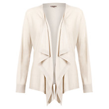 Buy Jigsaw Cashmere Silk Waterfall Cardigan, Stone Online at johnlewis.com