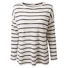 Buy East Oversized Stripe Print Jumper, White Online at johnlewis.com