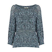 Buy Oasis Cable Batwing Jumper, Multi Online at johnlewis.com
