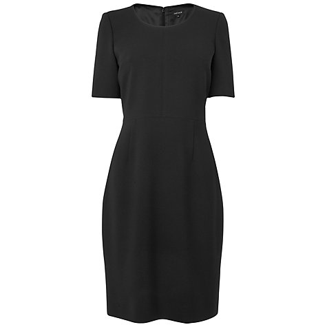 Buy Jaeger Short Sleeve Dress, Black Online at johnlewis.com