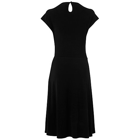 Buy Jaeger V-Neck Jersey Dress, Black Online at johnlewis.com
