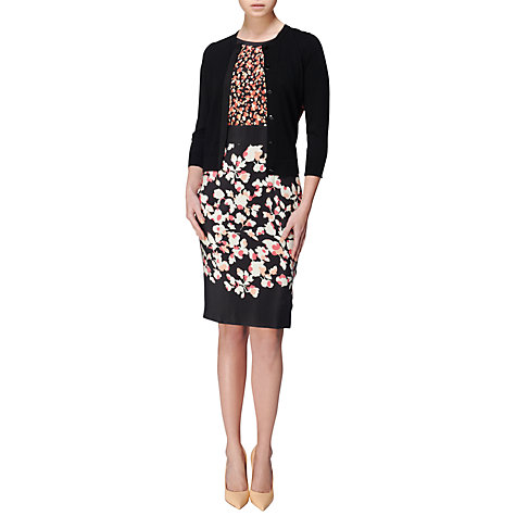 Buy Jaeger Print Floral Silk Dress, Pink Online at johnlewis.com