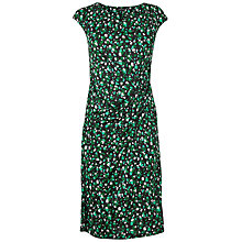 Buy Jaeger Print Twist Dress, Green Online at johnlewis.com