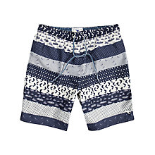 Buy Ted Baker Enigmar Fish Printed Swim Shorts Online at johnlewis.com