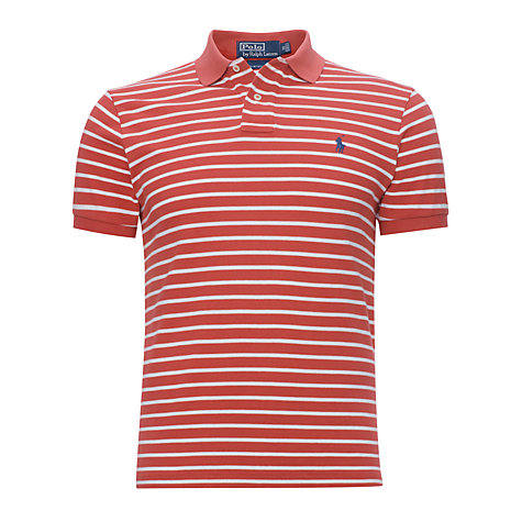 Buy Polo Ralph Lauren Custom Fit Stripe Polo Shirt Online at johnlewis.com