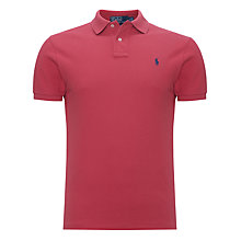 Buy Polo Ralph Lauren Custom Fit Plain Polo Shirt Online at johnlewis.com