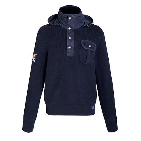 Buy Polo Ralph Lauren Button Neck Hoodie Online at johnlewis.com